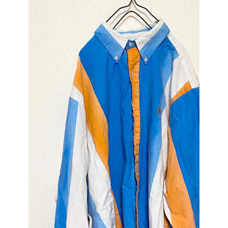 ラルフローレン(Ralph Lauren)の【激レア】90s ラルフローレン ストライプ ボタンダウンシャツ 刺繍(シャツ)