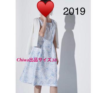 アベニールエトワール(Aveniretoile)の美品 アベニールエトワール  フレア ワンピース  2019 花柄 フラワー38(ひざ丈ワンピース)