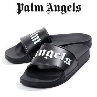1 PALM ANGELS ブラック シャワーサンダル size 44(サンダル)