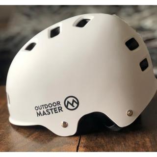 outdoor master  白 Mサイズ スケボーヘルメットused 美品(スポーツ)