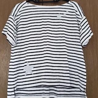 アウィーエフ(AuieF)のアウィーエフ   星プリント ボーダー Tシャツ カットソー(Tシャツ(半袖/袖なし))