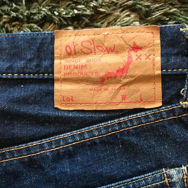 or slow  ストレートデニムパンツ 男女兼用 レディースのパンツ(デニム/ジーンズ)の商品写真
