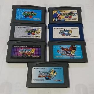 ゲームボーイアドバンス(ゲームボーイアドバンス)のロックマンエグゼ 1~6 セット!ソフトのみ!ジャンク!(携帯用ゲームソフト)