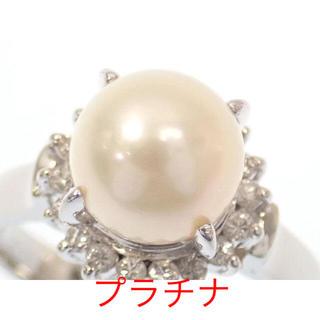 ダイヤ ダイヤモンド 真珠 パール リング 指輪 Pt850(リング(指輪))