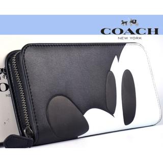 COACH - 新品 コーチ COACH ミッキー 高級長財布 ブリーカーブラック F54000