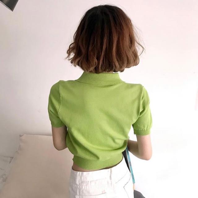 dholic(ディーホリック)のニットボタンブラウス●グリーン● レディースのトップス(ニット/セーター)の商品写真