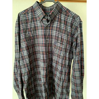 バーバリー(BURBERRY)のBURBERRY LONDON ノバチェックシャツ ネイビー(シャツ)
