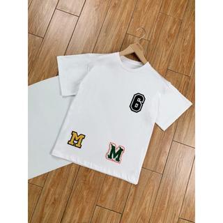 エムエムシックス(MM6)の★MM6★ワッペンコットンTシャツ(ホワイト)(Tシャツ(半袖/袖なし))