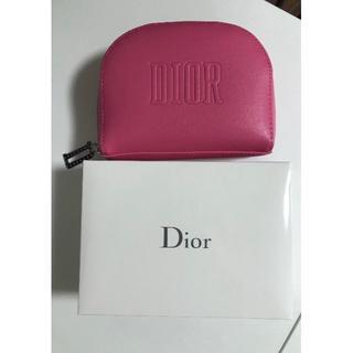 Christian Dior - ディオール 半円形ポーチ ピンク 新品