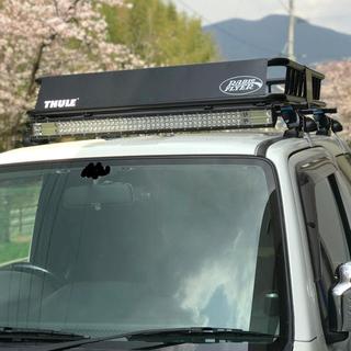 スズキ - JB23ジムニー LEDバー ルーフバスケット キャリア ポン付けオールセット