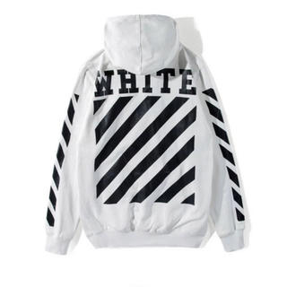 OFF-WHITE - OFF-WHITE オフホワイト スウェット パーカー ホワイト Mサイズ
