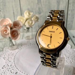 グッチ(Gucci)の【電池交換済み】GUCCI グッチ 8000M 腕時計 メンズ ゴールド(腕時計(アナログ))