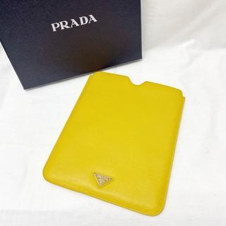 【美品】プラダ タブレットケース iPad サフィアーノレザー 黄色