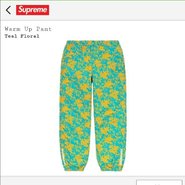 Supreme(シュプリーム)の20SS Supreme Warm Up Pant Teal Floral メンズのパンツ(その他)の商品写真