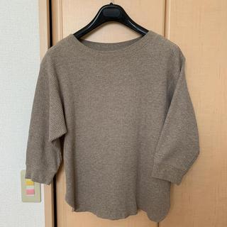 ユニクロ(UNIQLO)のユニクロ ワッフルトップス sizeM(Tシャツ/カットソー(七分/長袖))