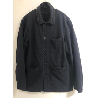 ユニクロ(UNIQLO)のユニクロ シャツジャケット ネイビー S(カバーオール)