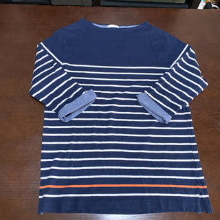 ジーユー(GU)の❤️ジーユーのボーダーカットソー 七分袖(Tシャツ/カットソー(七分/長袖))
