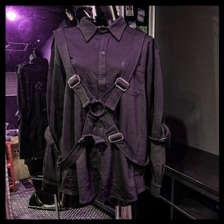 MILKBOY - KRY パラシュートシャツ 長袖 黒