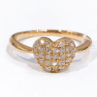 K18PG ダイヤモンド ハートパヴェリング(リング(指輪))