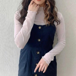 GU - 新品 GU ジーユー チュールスキンT ピンク Lサイズ