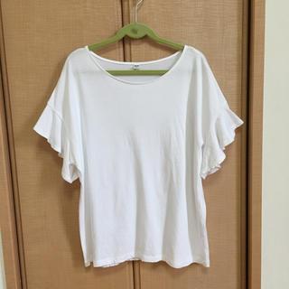 ユニクロ フリル袖 Tシャツ