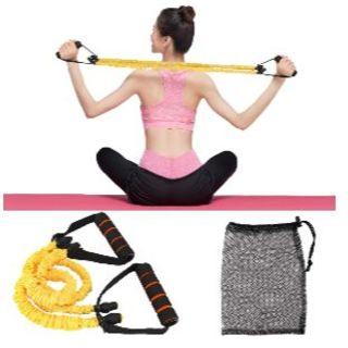 最新版! エクササイズバンド エクササイズベルト レジスタンス 筋力トレーニング(トレーニング用品)