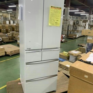 ミツビシ(三菱)の2020年 冷蔵庫 6ドア 三菱 MITSUBISHI ガラストップ 新品(冷蔵庫)