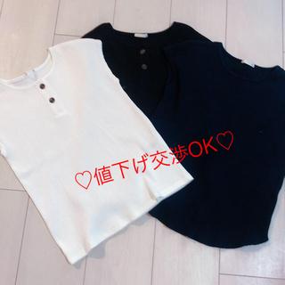 ジーユー(GU)のお値下げ中!新品未使用!!3色set♡140cm(Tシャツ/カットソー)