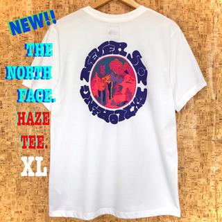 ザノースフェイス(THE NORTH FACE)の最新 ♪ ノースフェイス HAZE Tシャツ 白 サイケデリック XL相当(Tシャツ(半袖/袖なし))