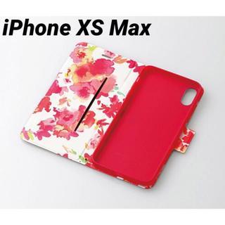 ELECOM - iPhoneXS Max ケース 手帳型 花柄 ディープピンク カバー