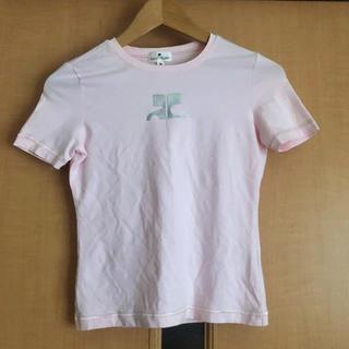 クレージュ(Courreges)のcourrege クレージュ ピンク Tシャツ(Tシャツ(半袖/袖なし))