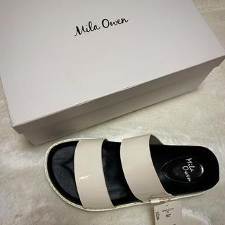 Mila Owen - ミラオーウェン ホワイトサンダル 新品未使用タグ付き Lサイズ