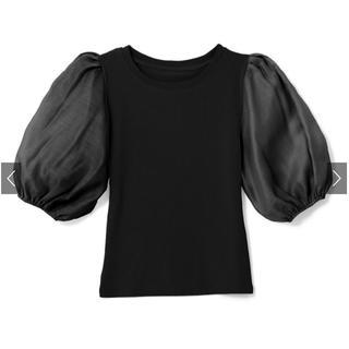 GRL - パフスリーブ切替えデザイントップス 黒色