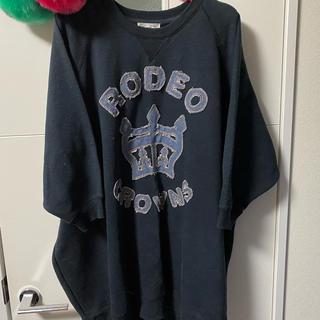 RODEO CROWNS - ロデオクラウンズ  ビッグスウェットトレーナー黒