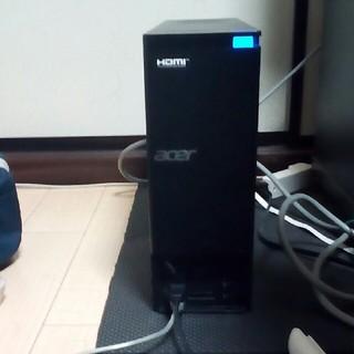 エイサー(Acer)のHDMI 標準装備スリムデスクトップ i3 2世代SSD120GB(デスクトップ型PC)