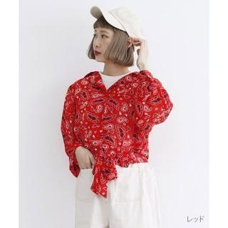 merlot - 新品  merlot ペイズリー柄ブラウス 花柄ブラウス 花柄シャツ