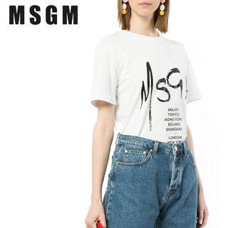 エムエスジイエム(MSGM)のL12 MSGM レディース グラフィティロゴ Tシャツ size XS(Tシャツ(半袖/袖なし))