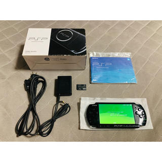 プレイステーションポータブル(PlayStation Portable)のPSP-3000 ブラック 送料無料 ①(携帯用ゲーム機本体)