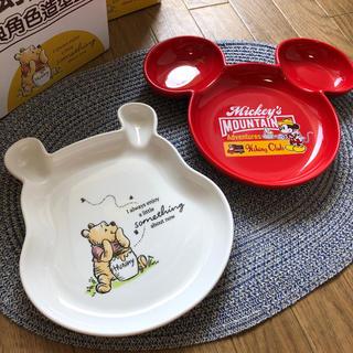 時間限定値下げ【日本未発売】ディズニー 皿セット プーさんとミッキー セラミック