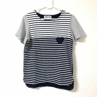 ミュベールワーク(MUVEIL WORK)のボーダーTシャツ(Tシャツ(半袖/袖なし))