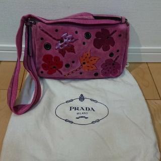 PRADA - PRADA プラダ スエード ハンドバッグ