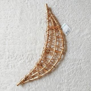 【未使用】月型 ゴールド ムーン パーツ フラワーアレンジメント 花材 木材(ドライフラワー)