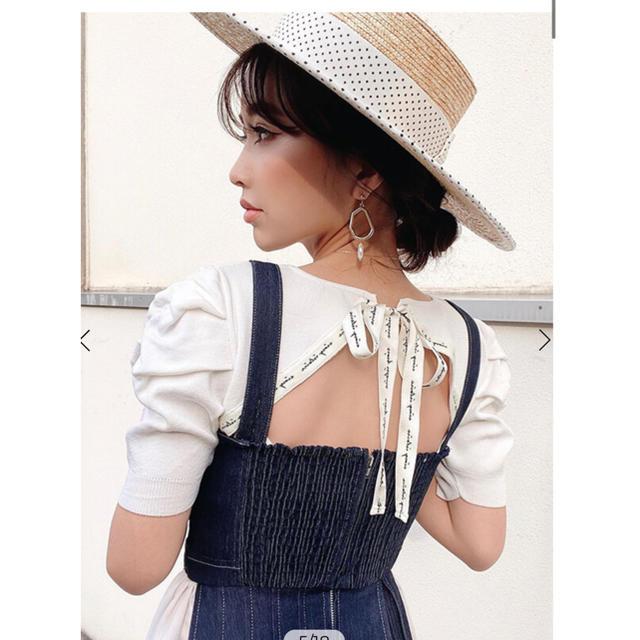 eimy istoire(エイミーイストワール)のeimy istoire  Charme Denim Dress ワンピース レディースのワンピース(ロングワンピース/マキシワンピース)の商品写真