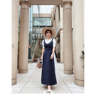 eimy istoire - eimy istoire  Charme Denim Dress ワンピース