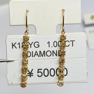 DE-11096 K18YG フックピアス ダイヤモンド AANI アニ