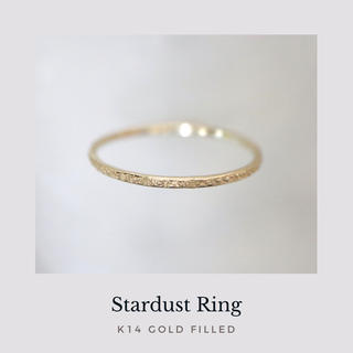 《stardust》 14kgf 槌目リング ゴールド 指輪 華奢 ピンキー有(リング)
