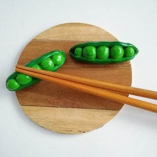 さやえんどう 箸置きセット(キッチン小物)