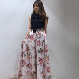 アンドクチュール(And Couture)のアンドクチュール リボンノースリーブニット(カットソー(半袖/袖なし))