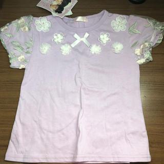 しまむら - 紫 花柄 Tシャツ
