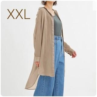 GU - 新品・未使用!!【XXL】GU/シアーロングシャツ/ベージュ
